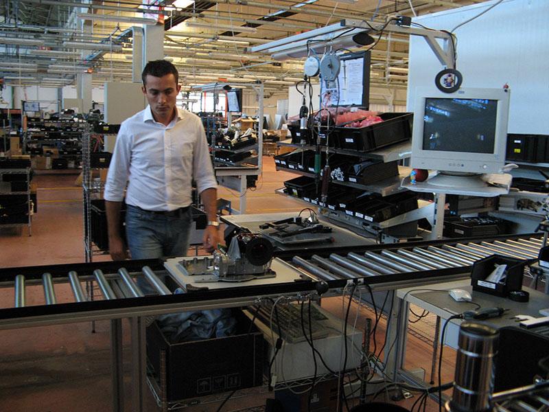 Visita à fábrica de projetores da SIM2, na Itália (2008)