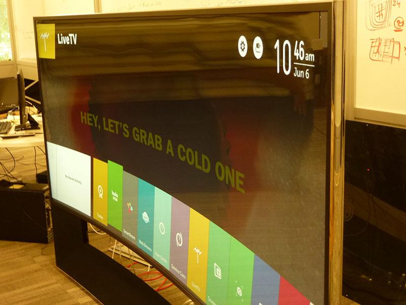 Visita ao centro de pesquisas de TVs Smart, da LG, no Vale do Silício (2014)